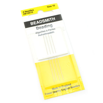 Size 10 4 Pack Beadsmith Seed Bead Needles