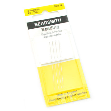 Size 12 4 Pack Beadsmith Seed Bead Needles