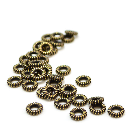 Coiled Spacer- Antique Brass