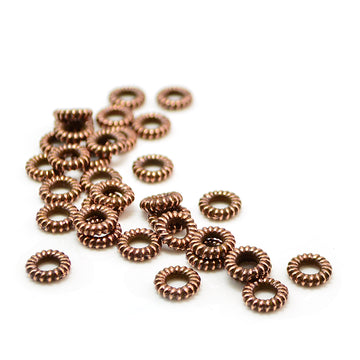 Coiled Spacer- Antique Copper