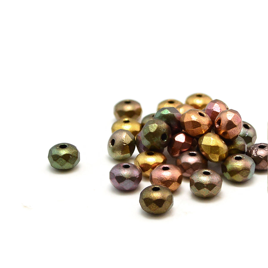5mm Rondelles- Metallic Mix