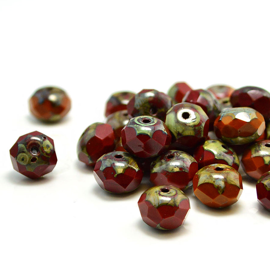 8mm Rondelles- Chestnut Mix
