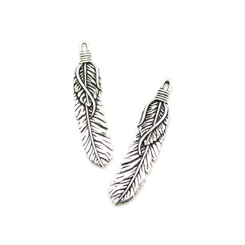 Feather Dance- Antique Silver
