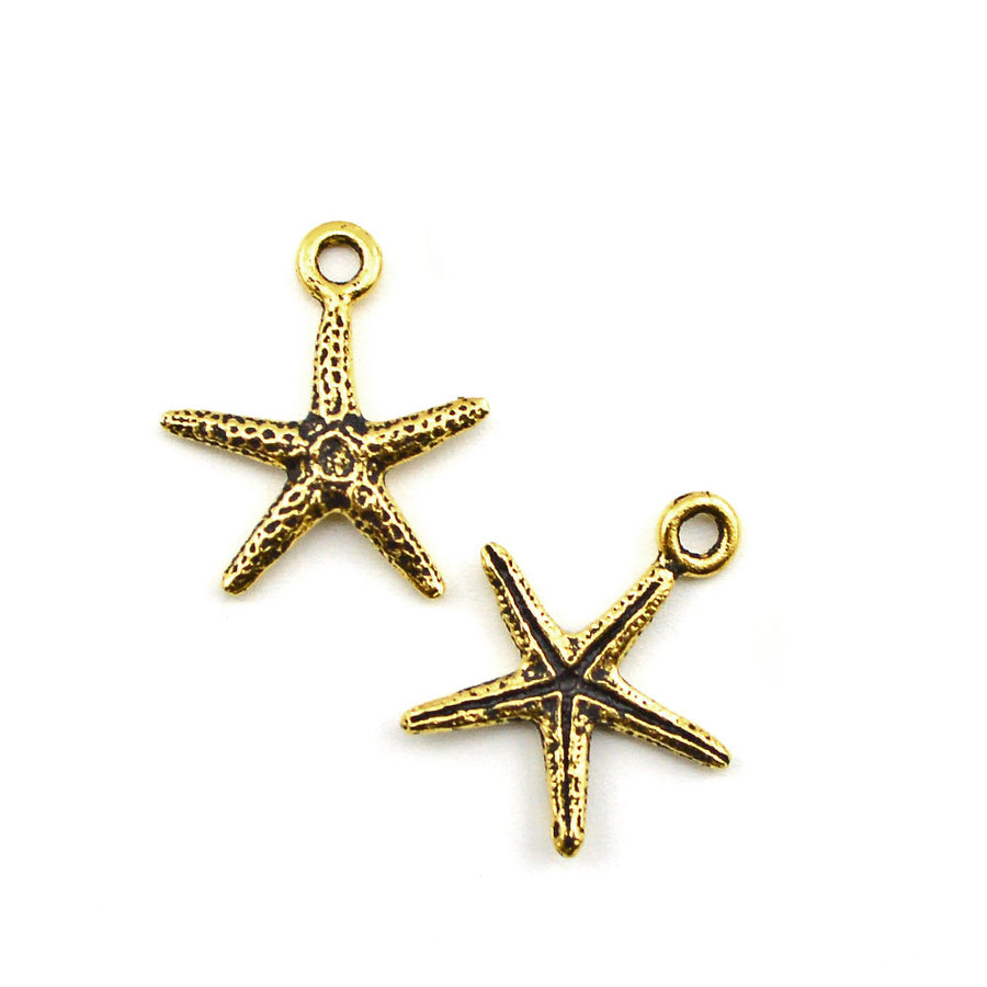 Star of the Sea- Antique Gold , Charms - Tierracast, Beadshop.com