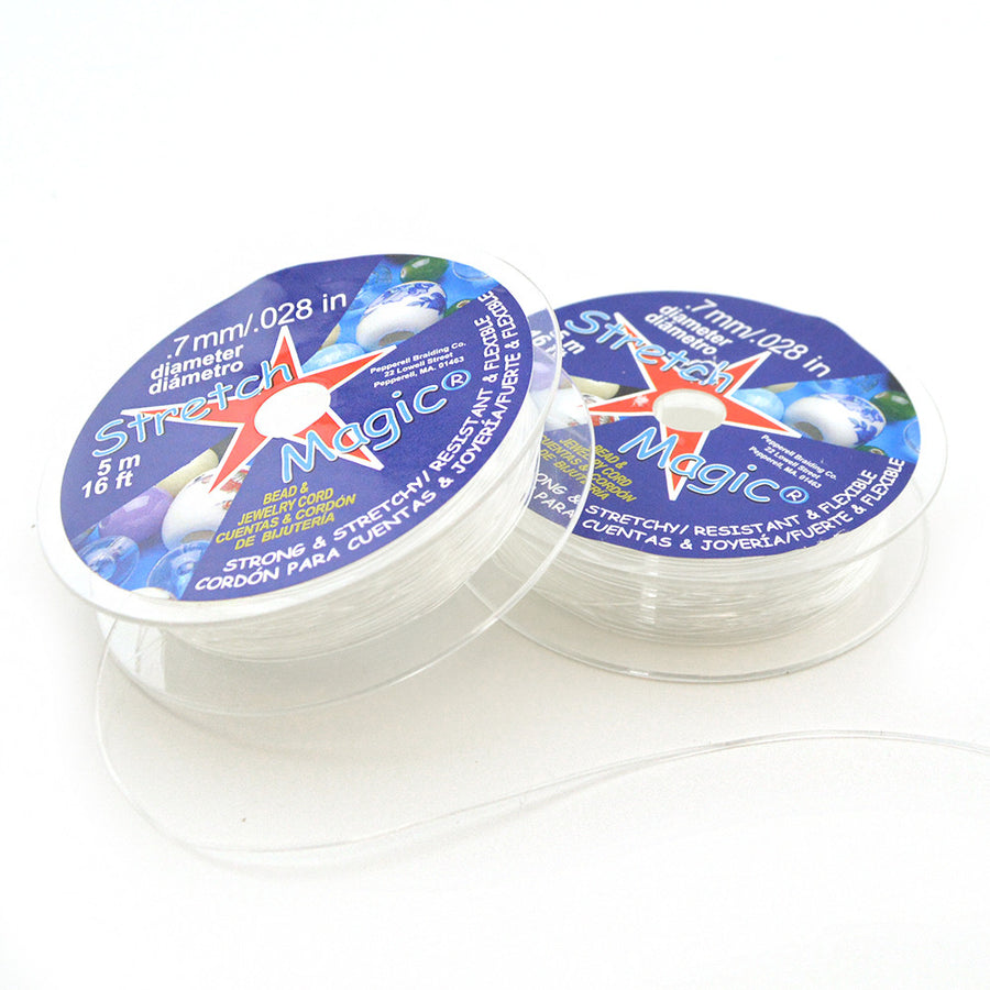 Stretch Magic Clear Elastic .7mm 5 meters , Stretch Magic - Helby, Beadshop.com
