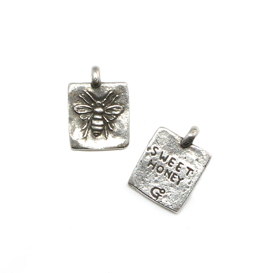 Sweet Honey Bee- Pewter - Beadshop.com