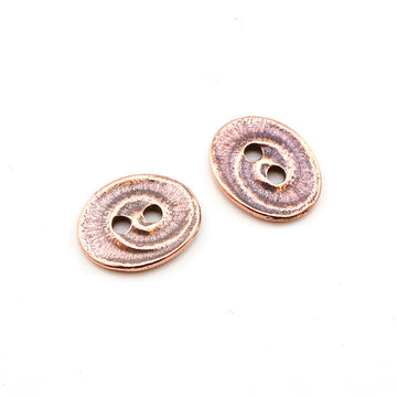Swirl- Antique Copper , Buttons - Tierracast, Beadshop.com