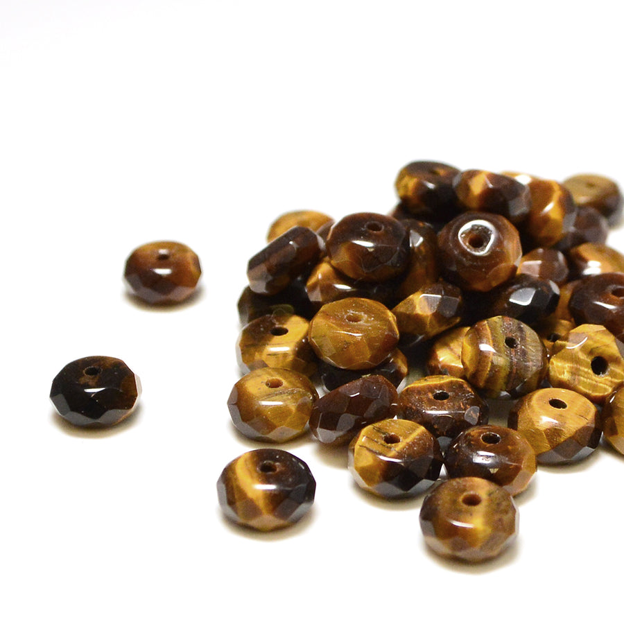 Tiger's Eye Rondelle- 8mm - Beadshop.com