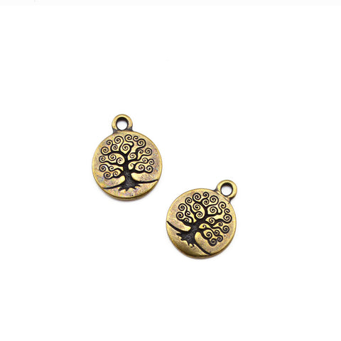 Tree of Life Charm- Antique Brass