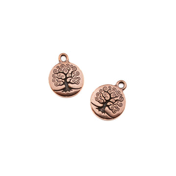 Tree of Life Charm- Antique Copper , Charms - Tierracast, Beadshop.com