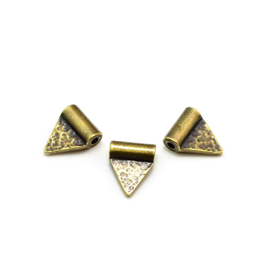 Triangle Flag Baule Bead- Antique Brass