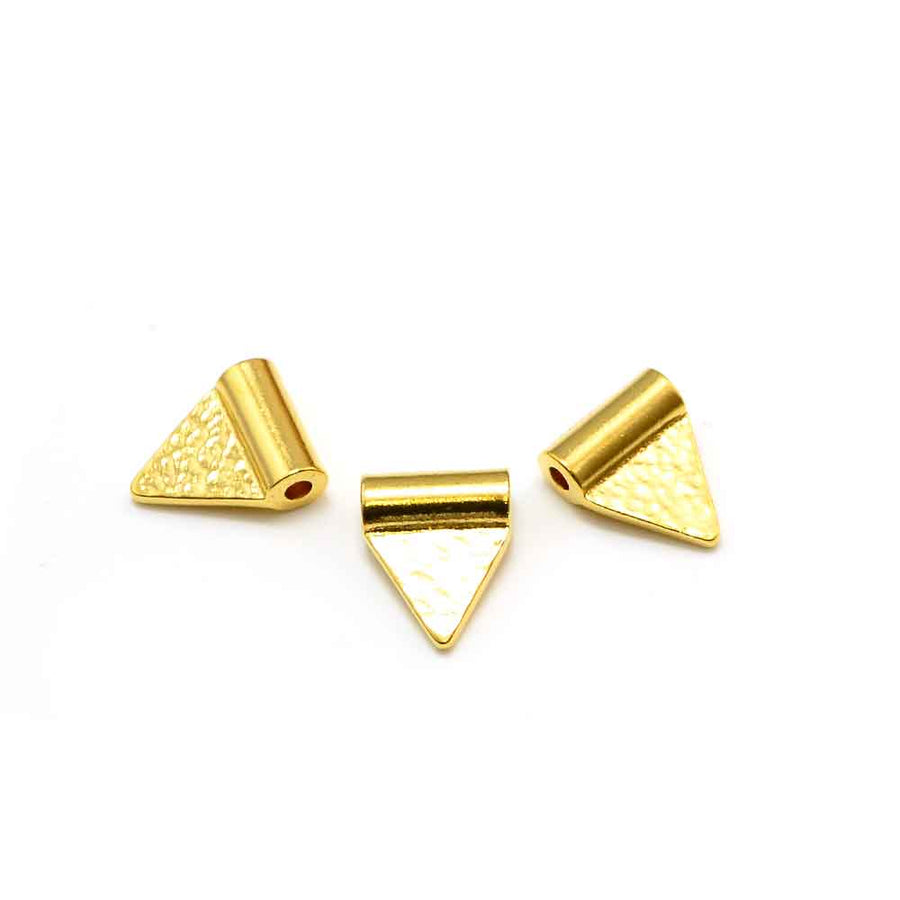 Triangle Flag Baule Bead- Gold