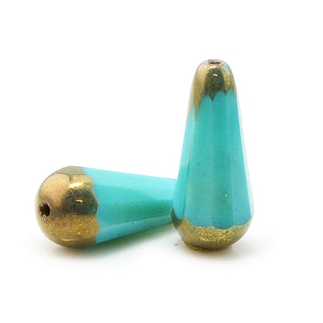 Faceted Drops- Turquoise Bronze