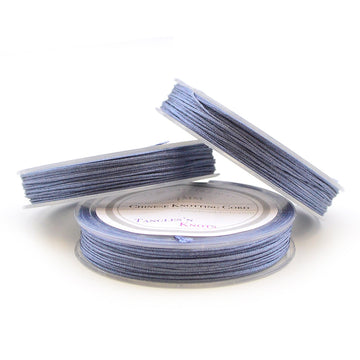 Williamsburg Blue- 0.4mm , 0.4mm chinese knotting cord - Tangles n' Knots, Beadshop.com