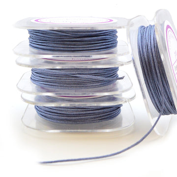 Williamsburg Blue- 0.5mm , 0.5mm chinese knotting cord - Tangles n' Knots, Beadshop.com