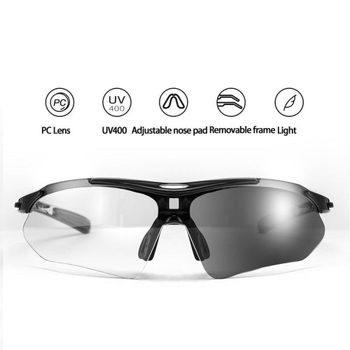 Photochromic Cycling Glasses Myopic Frame UV400 Protection - trendshades.com