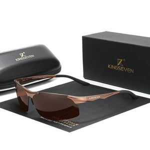 Sporty Sunglasses Polarized Mirror Lens Mens Sunglasses Aluminum Frame - trendshades.com