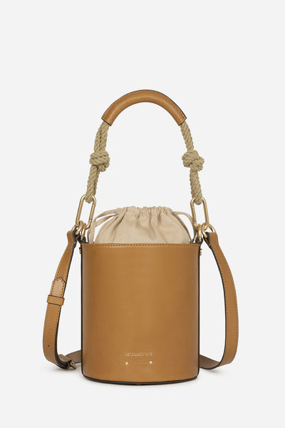 Calfskin leather mini holly bucket bag