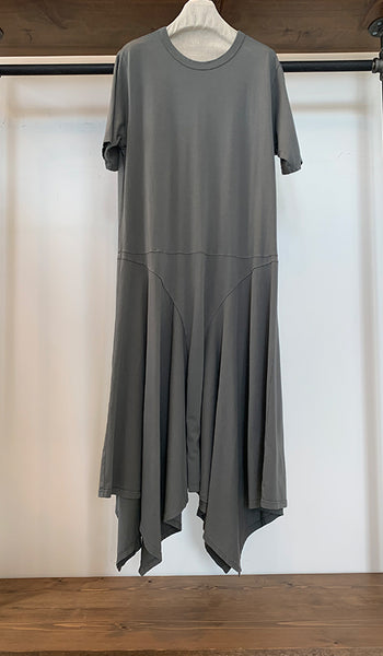 Asymmetrical long cotton dress