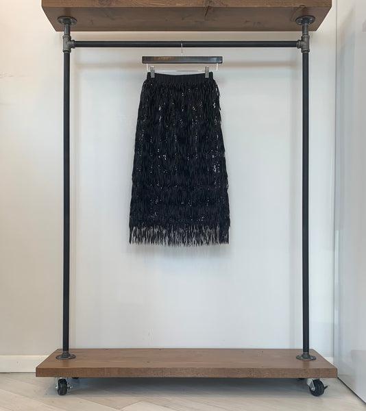 Zero Degrees Celsius fringe party skirt