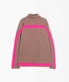 Vilagallo Turtle Neck with Neon Pink Detail