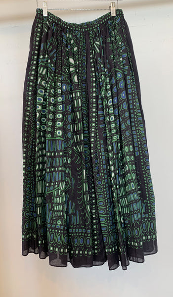 Printed gathered skirt