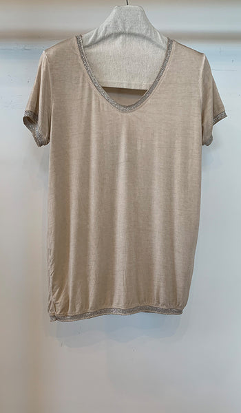 T-shirt with bead detail