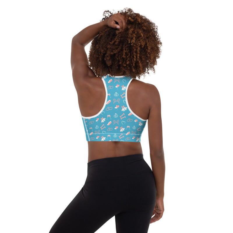 Sweating for the Wedding Blue Padded Sports Bra