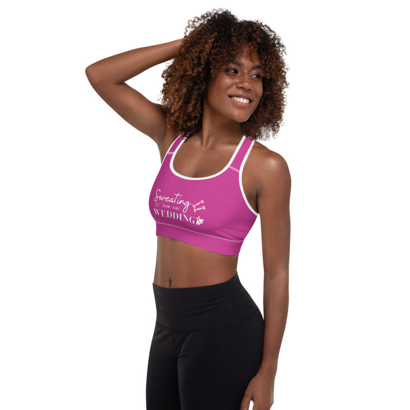 Sweating for the Wedding Pink Padded Sports Bra