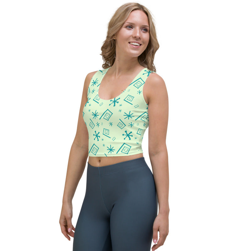 Green Teacup Crop Top