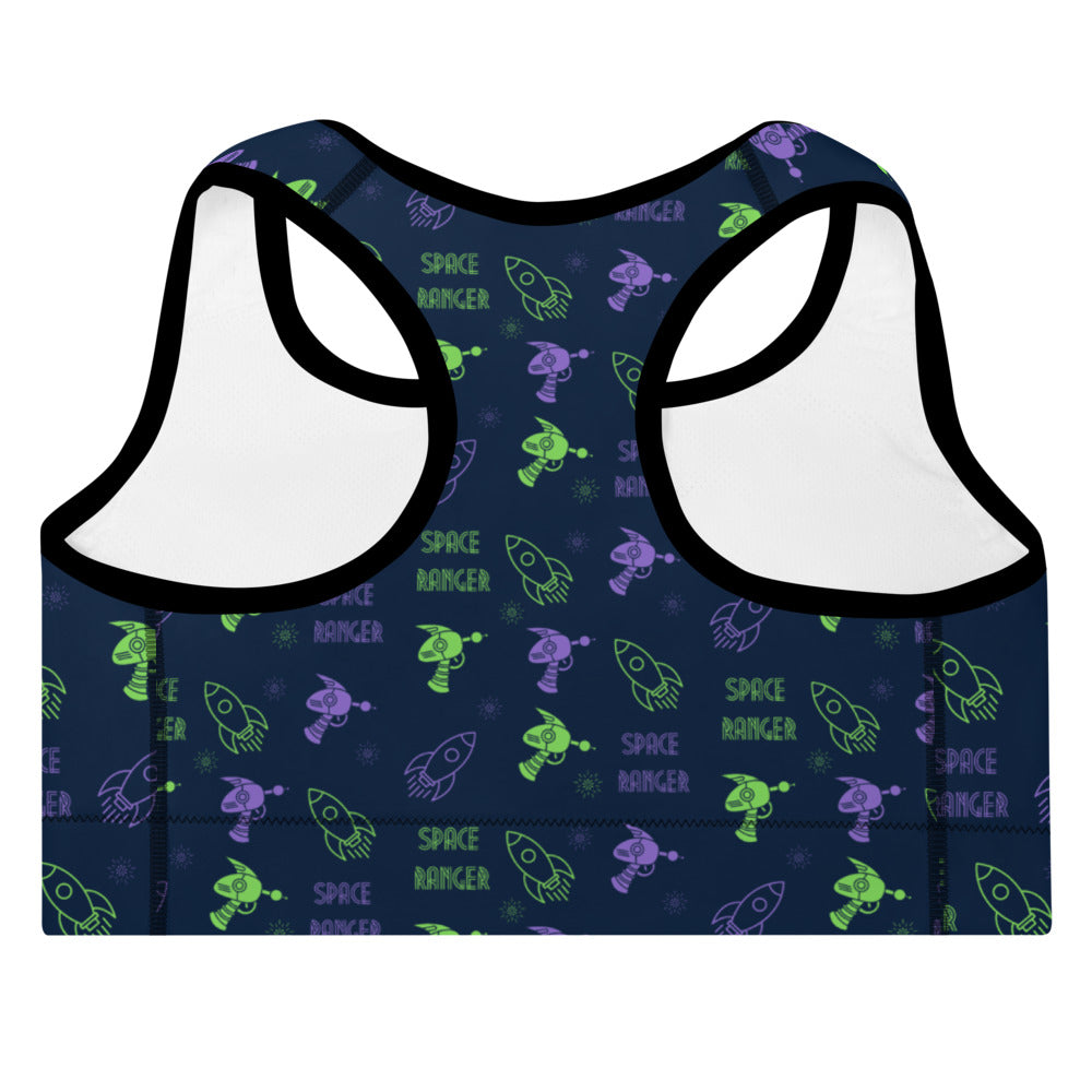 Space Ranger Padded Sports Bra