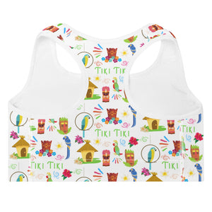 Tiki Tiki Padded Sports Bra