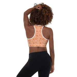Orange Teacup Padded Sports Bra