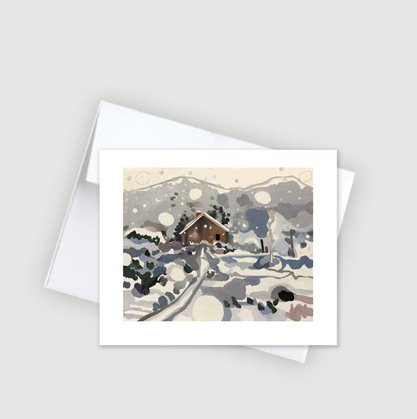 Flying Snow :: Note Card