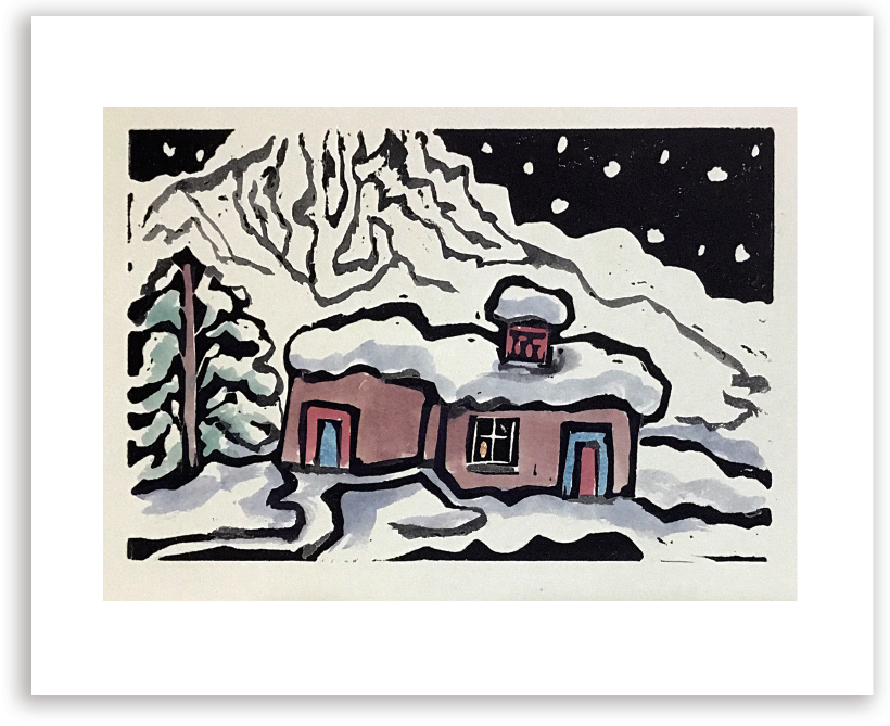 Adobe in Winter :: Note Card