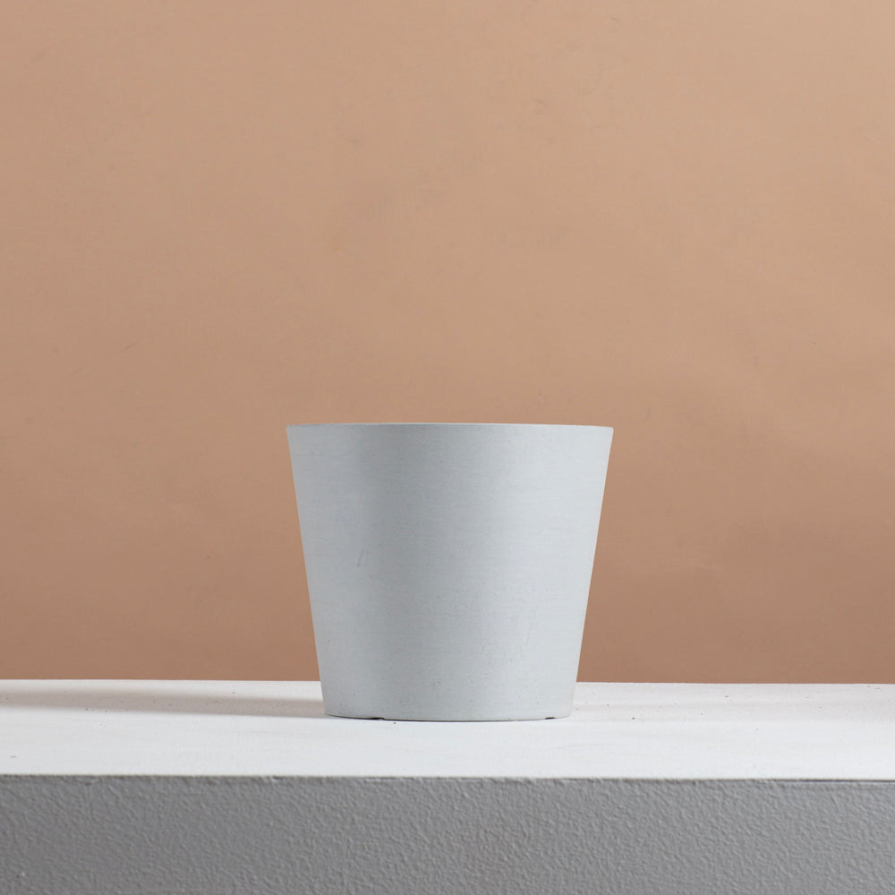 White Grey Eco plastic pot