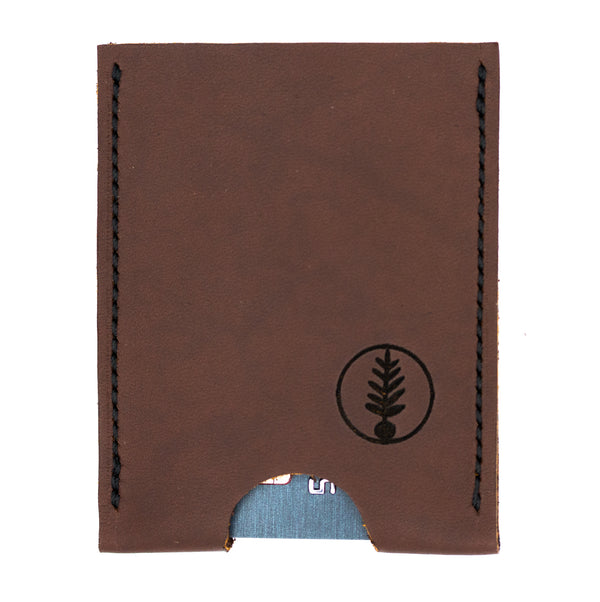 Brown - B-52 - Push-Up Card Wallet