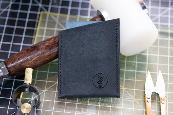 Black - B-52 - Slant Card Wallet