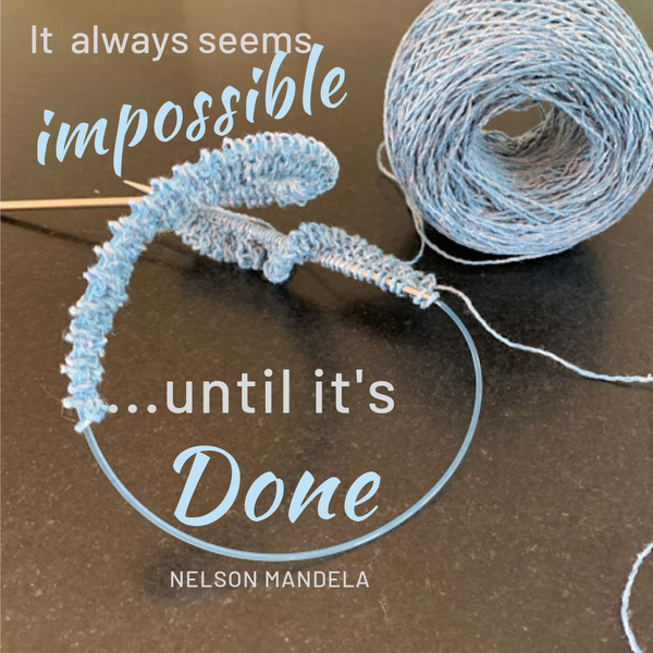 It always seems impossible, until it's done