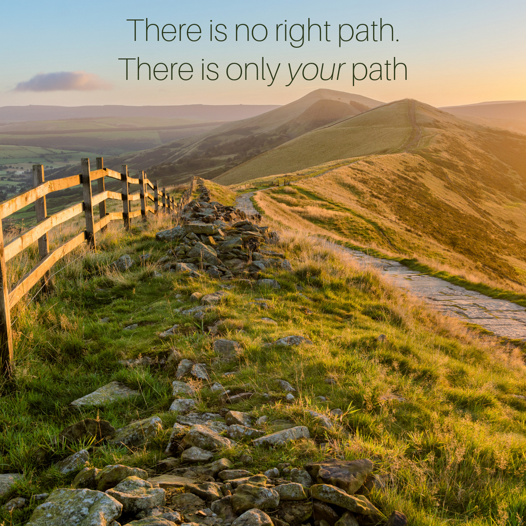 There is no right path, only your path