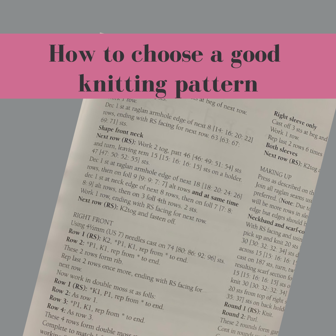 How to choose a good knitting pattern