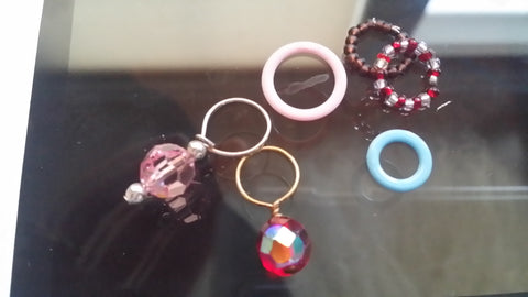 fixed ring stitch markers