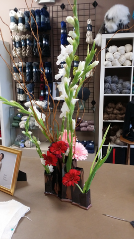Duffy's ikebana for the Shibui Trunk Show Opening Reception