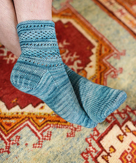 Hunter Hammersen Silk Road Socks Kazak