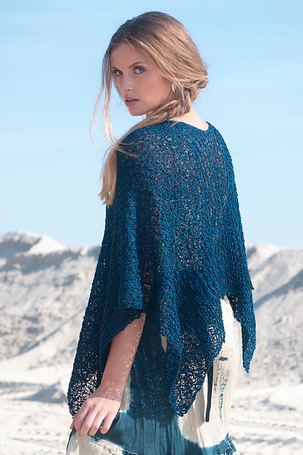 Long Beach Poncho Top Tahki Stacy Charles Crazy for Ewe
