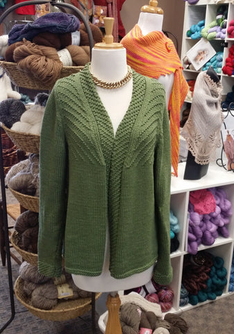 Rowan Misaka Cardigan in Cotton Lustre