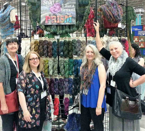 Crazy for Ewe at the Prism Yarns booth TNNA 2016