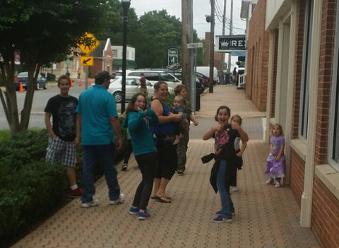 Jaelynn Willey and family in Leonardtown