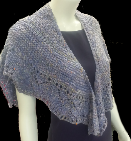 Noro Tokonatsu wrap on model