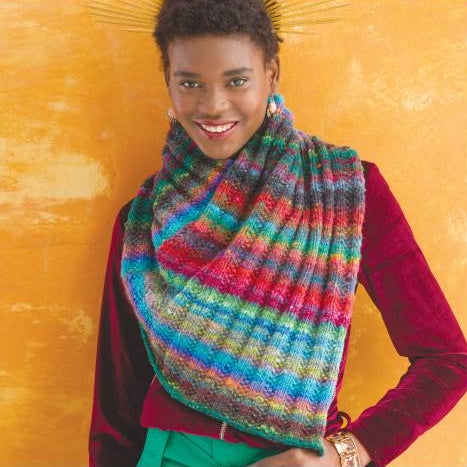 Pattern for cowl on the cover of the noro magazine in ito